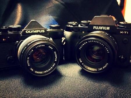 OM-1&50mm X-T1&35mm