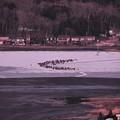 展望台から。。山中湖畔でワカサギ釣り。。20140125
