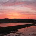 写真: 久々に見た夕焼け