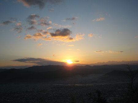 武田山山頂から見る初日の出2