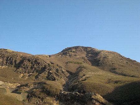 久住山への登山途中