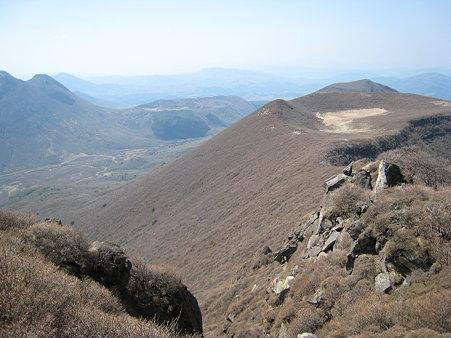 大船山山頂近くから望む米窪