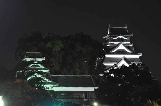ライトアップ熊本城